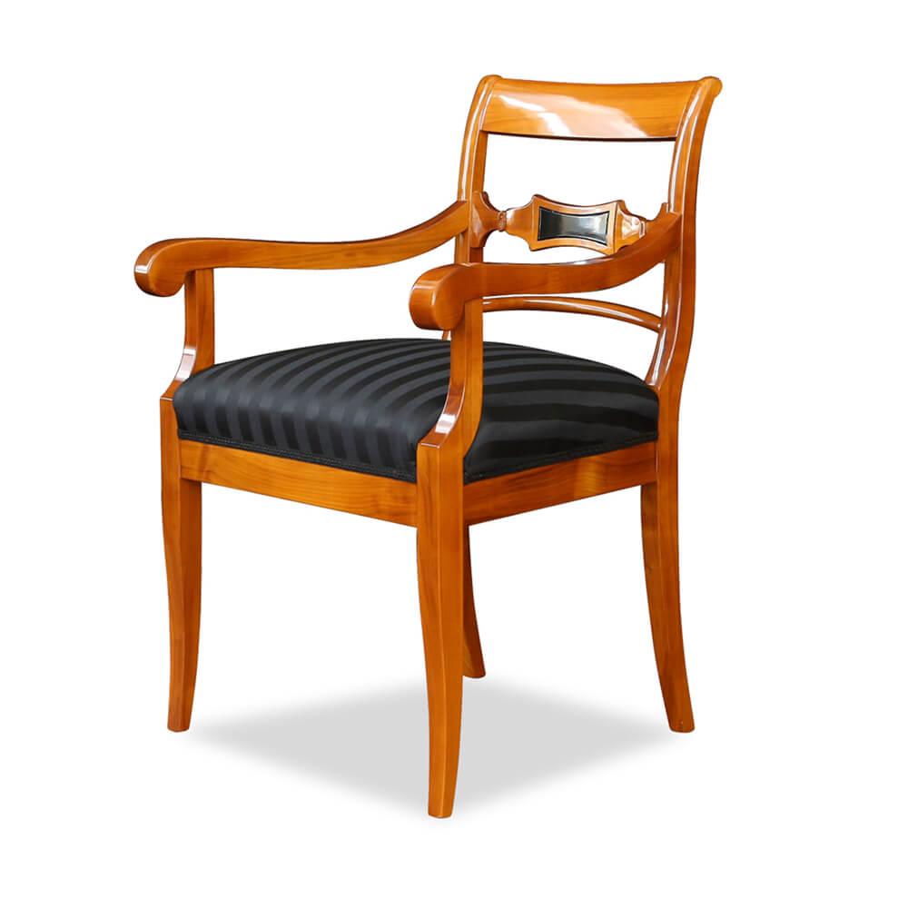 Armlehnstuhl kirschbaum biedermeierstil for Stuhl armlehne