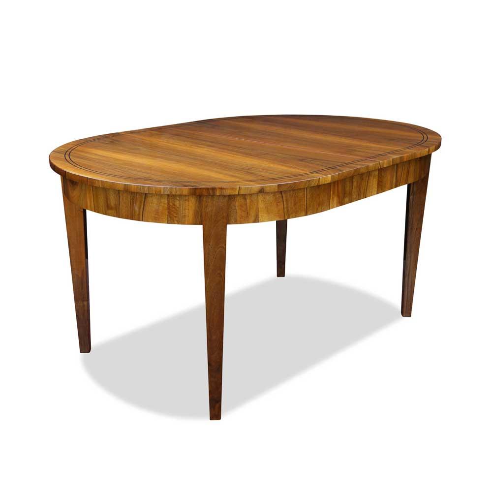 biedermeier tisch oval nussbaum. Black Bedroom Furniture Sets. Home Design Ideas