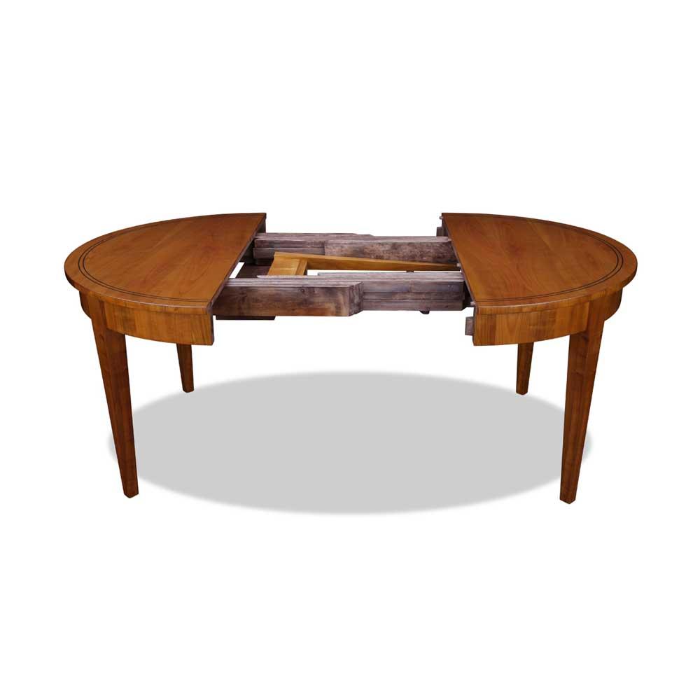 biedermeier ausziehtisch rund kirsche. Black Bedroom Furniture Sets. Home Design Ideas
