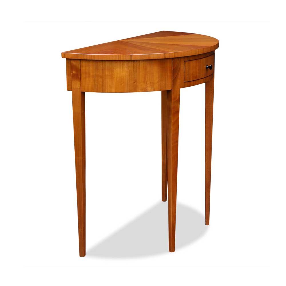 demi lune tisch kirschbaum mit schublade. Black Bedroom Furniture Sets. Home Design Ideas