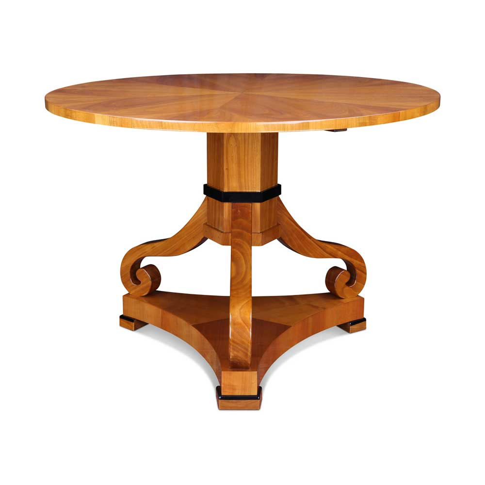 biedermeier tisch rund mit mittelfuß