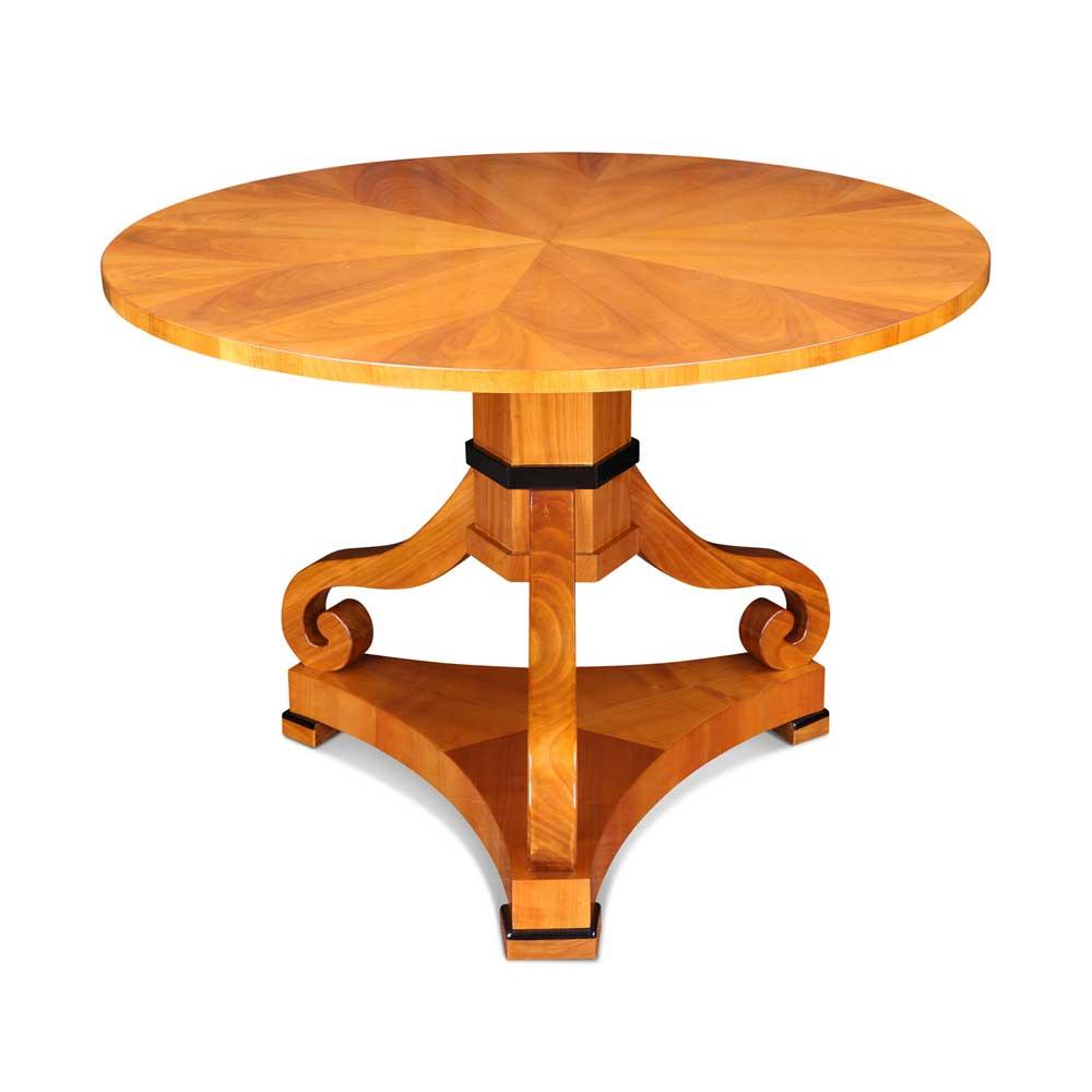 biedermeier tisch rund mit mittelfu. Black Bedroom Furniture Sets. Home Design Ideas
