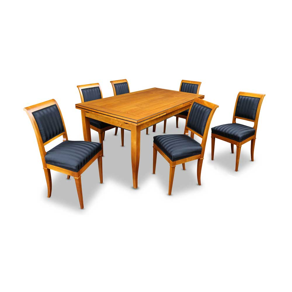 biedermeier tisch mit stühle kirschbaum