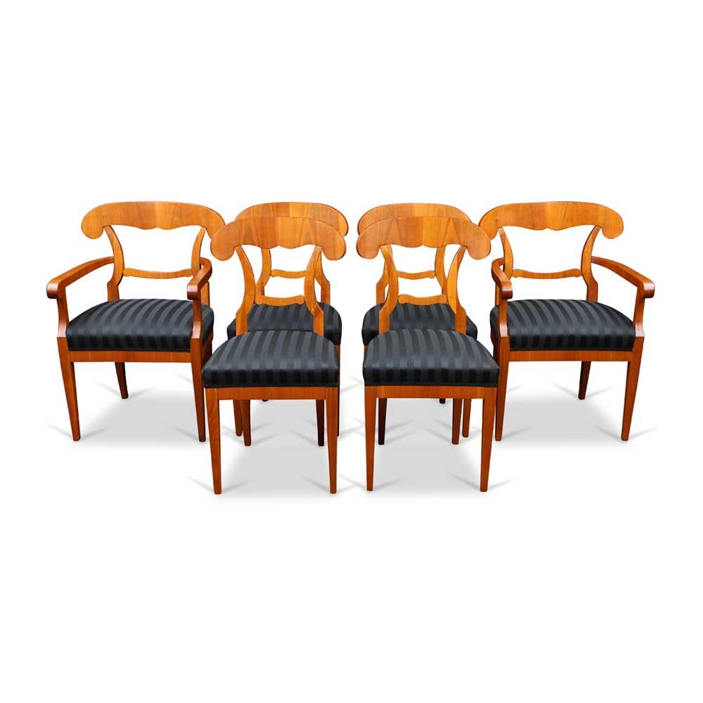 holzstuhl mit lehne im biedermeierstil. Black Bedroom Furniture Sets. Home Design Ideas