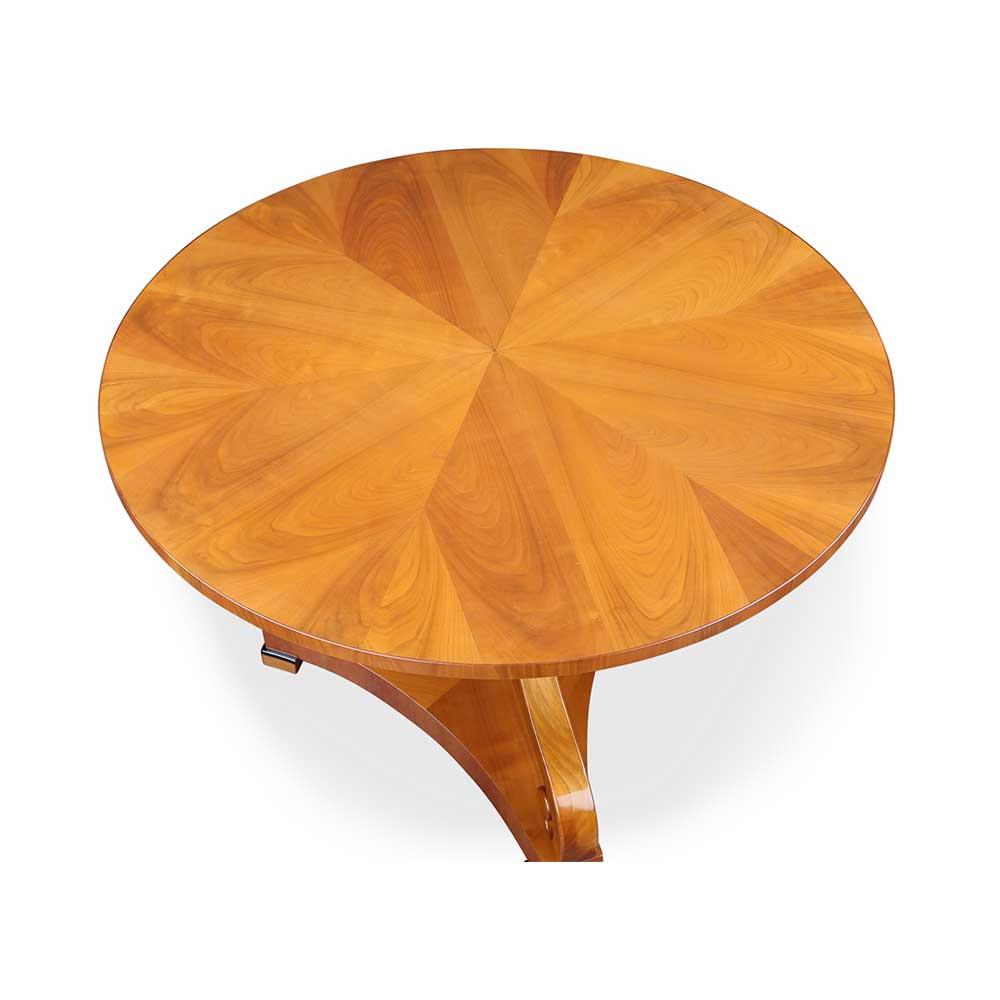 biedermeier tisch rund mit st hlen kirschbaum. Black Bedroom Furniture Sets. Home Design Ideas