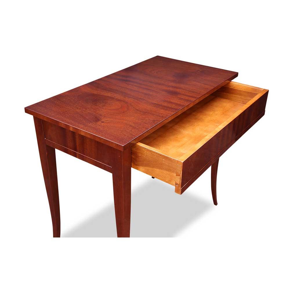 Biedermeier tisch mit schublade mahagoni for Tisch mit schublade