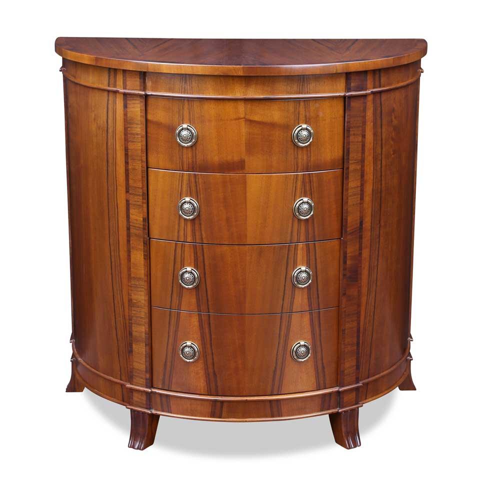 halbrunde kommode aus nussbaum. Black Bedroom Furniture Sets. Home Design Ideas